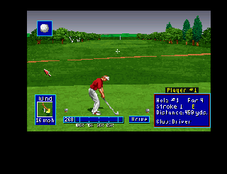 Screenshot Thumbnail / Media File 1 for PGA European Tour (1994)(Ocean)[!]